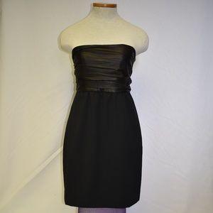 NWT Theory Leather Bandeau Strapless Dress Sz 8